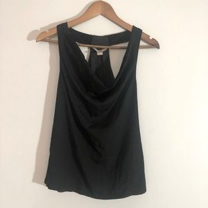 Soft Cowl Neck Tank Top with Tee Shirt Lining